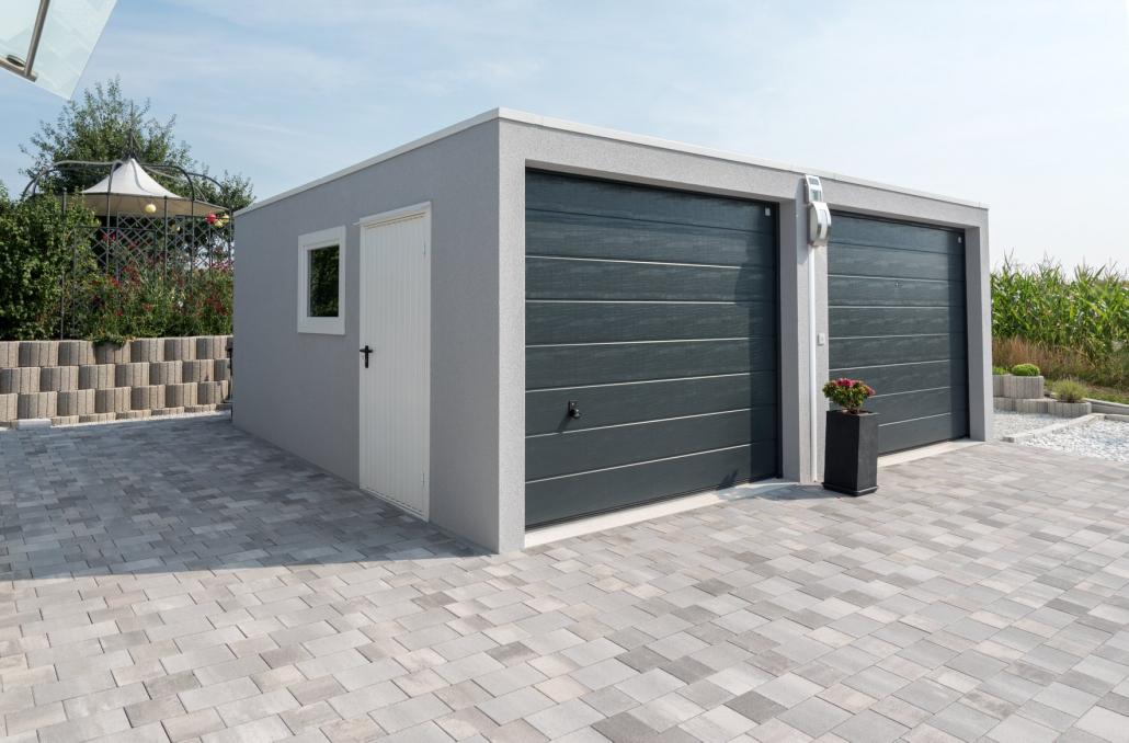 Double garage préfabriqué