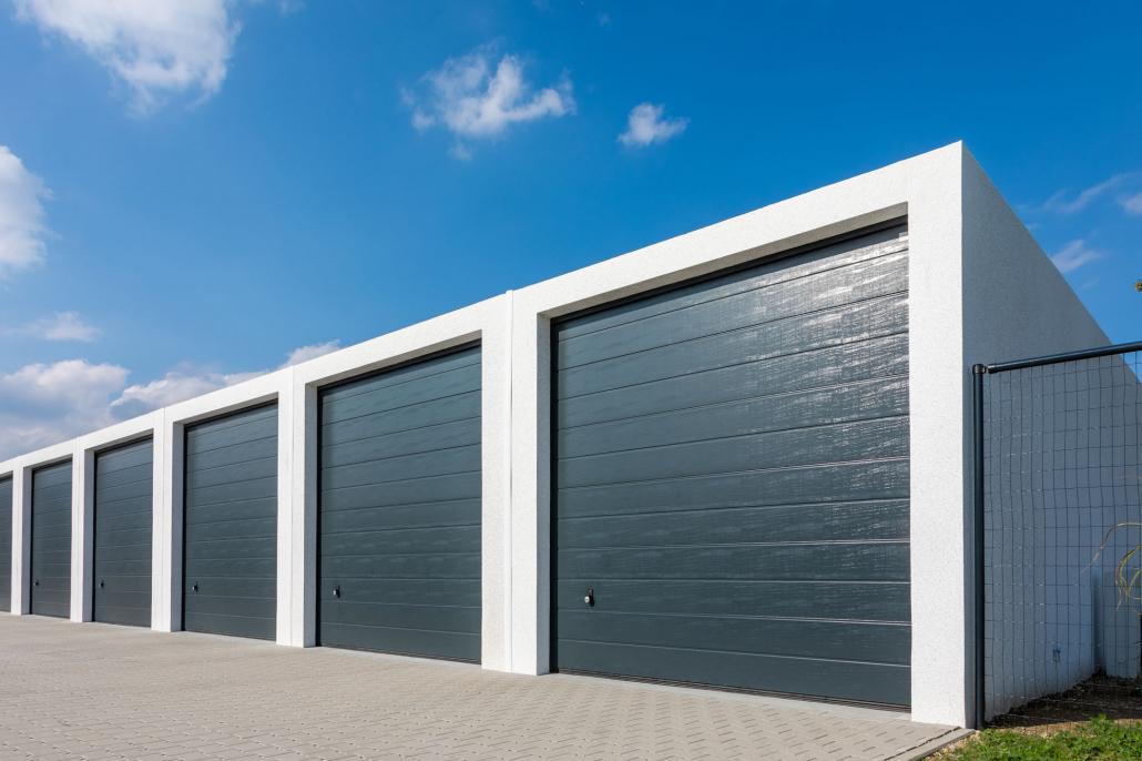 Garages béton en batterie