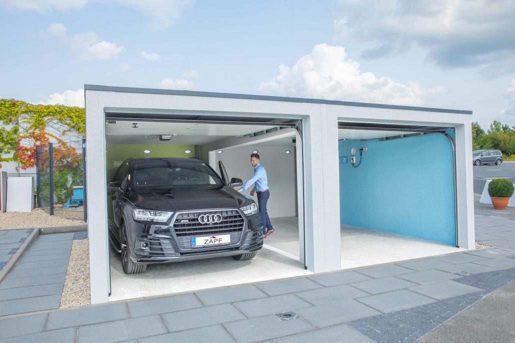 Intérieur garage béton préfabriqué