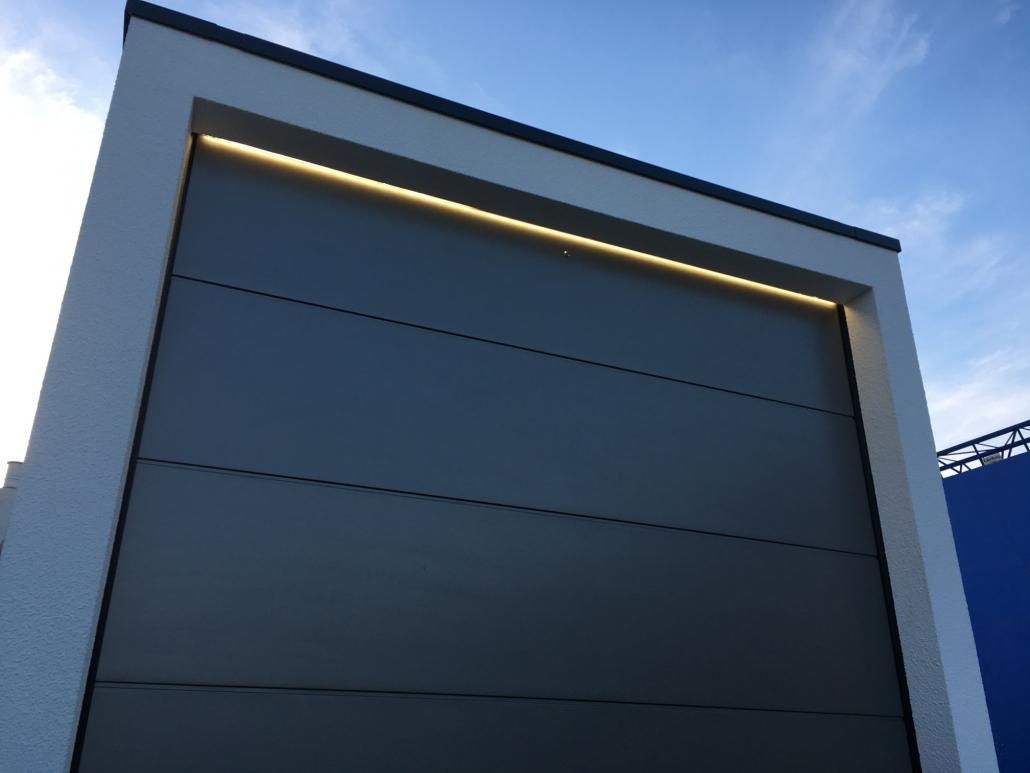 Eclairage de la porte de garage