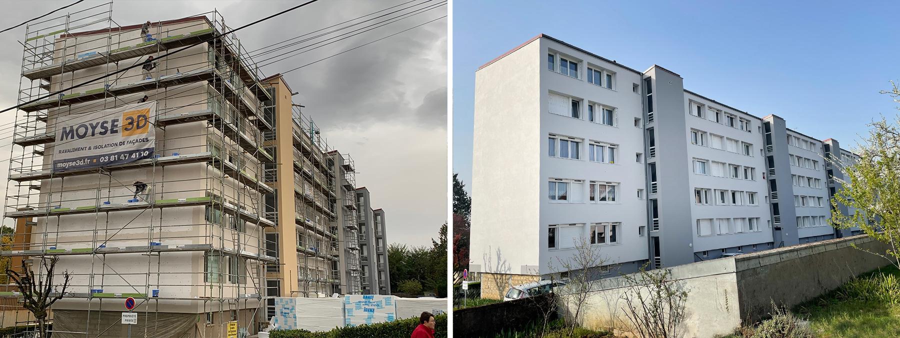 Ravalement de façade Besançon