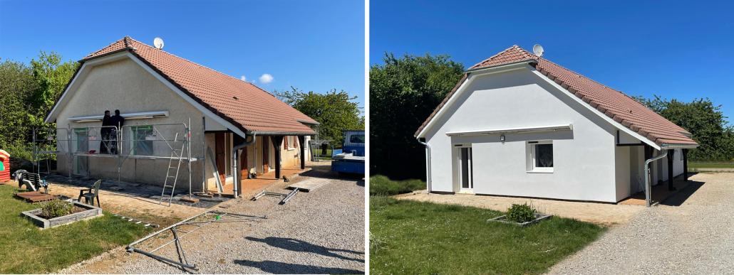 Bardage rénovation façade doubs