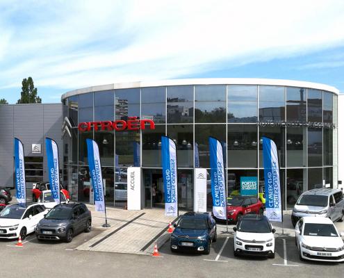 Concession Citroën Besançon Mur rideau